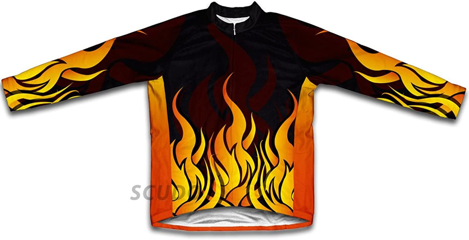 Hot Flames Winter Thermal Cycling Jersey for Women