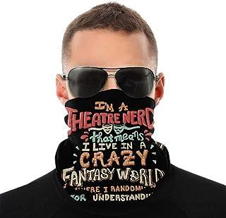 Lsjuee I 'm A Theatre Nerd Unisex Bandana multifunzionale senza cuciture per il viso Ghetta per il collo Copricapo a tubo ...