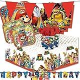 amscan irpot - kit n 44 addobbi festa compleanno super mario run