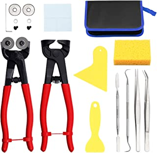SPEEDWOX 18PCS Mosaic Tools for Adults Ceramic Tile Nippers Mosaic Cutting Pliers with Replacement Cutting Wheel Scrapers ...