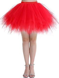 Dressystar Petticoats Minirock Kurz Unterrock Tutu Unregelmäßig Tüll Damen Mädchen Ballettrock Multi-Schichten