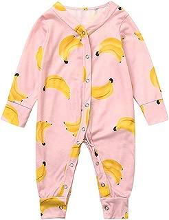 Infant Baby Romper Girls Boys Jumpsuit Mitiy Cotton Soft Cartoon Banana Pajamas Set