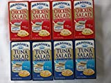 Brunswick Tuna Salad & Chicken Salad With Crackers Ready to Eat Snack Kit 3.0 oz Each (8 ct)