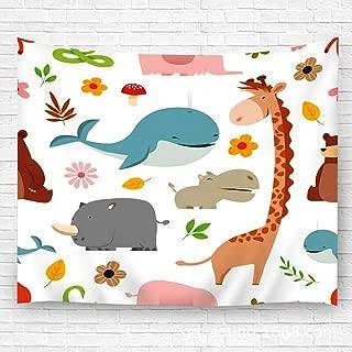 txregxy Wall Hanging Tapestries Really Cute Cartoon Wild Animals Decor Beach Towel Blanket Carpet 51.2