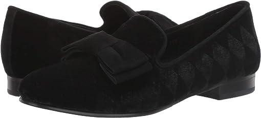 Black Rombo Velvet/Black Suede