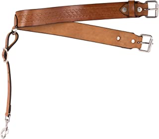 AceRugs Hand Tooled Western Leather Saddle Back Cinch Rear Cinch Flank Strap