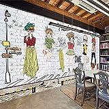 VGFGI Papel pintado de vinilo autoadhesivo impermeable de Pvc Mural 3D pared de ladrillo blanco chica hogar vinilo arte decoración de pared papel tapiz