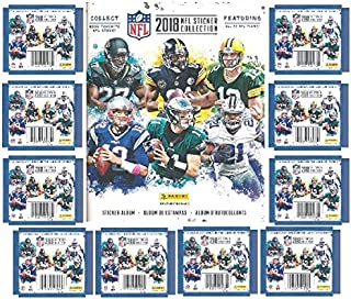 2018 Panini NFL Football Stickers Special Collectors Package with 60 Brand New MINT Stickers & HUGE 72 Page Color Collectors Album! Look for Stickers of all the Top NFL Superstars & Rookies! WOWZZER!
