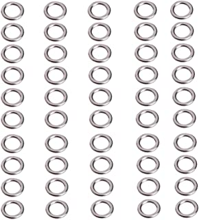 OTGO 50Pcs Stainless Steel Fishing Solid Snap Split Ring Lure Tackle Connector