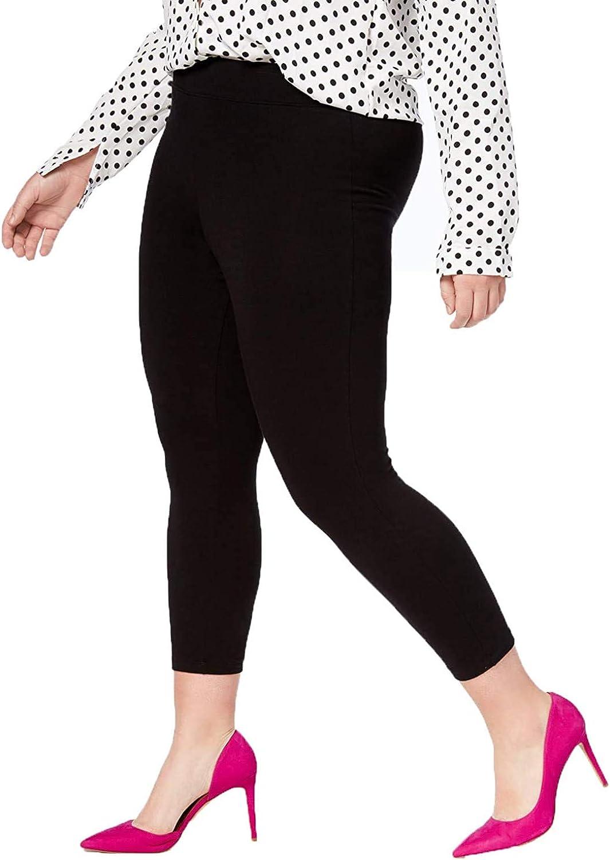 HUE Women's Plus Capri Leggings, Black, Size 3X
