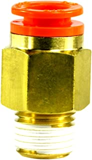 SMC AS4211F-N04-13S Air Flow Control Valve with Push-to-Connect Fitting With Sealant 1//2 Tube OD x 1//2 NPT Male PBT /& Nickel Plated Brass Elbow