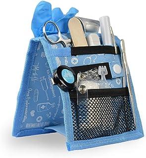 Organizador auxiliar de enfermería para bata o pijama | estampados en azul | Keens de Mobiclinic