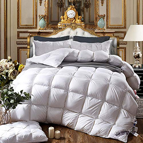 Review Of Cotton Quilt Duvet 95% White Goose Down core Quilt Thickening Warmth Heat Storage Warm and...