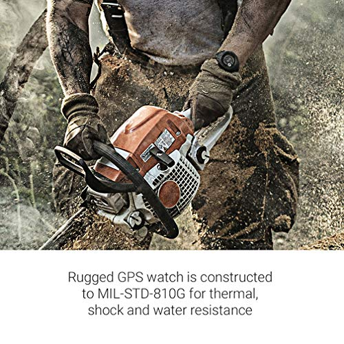 Garmin Instinct, Rugged Outdoor Watch with GPS, Features GLONASS and Galileo, Heart Rate Monitoring and 3-axis Compass