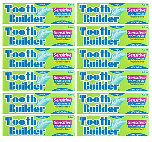 Squigle Tooth Builder Sensitive Toothpaste 4 oz/12 Pack
