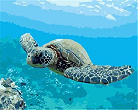 Painting by Numbers DIY Oil Painting for Adult Ocean, Creature, Tortoise Canvas Print Wall Art Decoration 40X50Cm