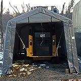 7. Shelter Giant 11228 Instant Garage Storage Shed, 12' x 28', Grey