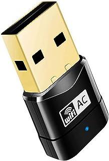USB WiFi Adapter AC600 Dual Band 2.4Ghz/5Ghz for PC Gaming/Desktop/Laptop Supports Windows/Mac OS/Linux/Ubuntu (Black)
