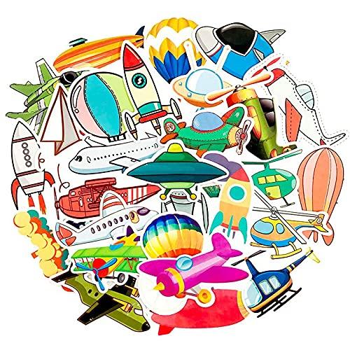 CHUDU Dibujos animados Doodle Aviones Juguete Avión Pegatinas Regalo Juguetes Para Niños Diy Portátil Refrigerador Maleta Monopatín 40 unids/Pack