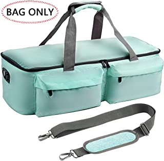 Large Tote Bag Compatible for Cricut Explore Air 2 and Accessories Bundle, Cricut Maker, Carrying Case Storage fits Silhouette Cameo 3 and Supplies-Mit (Bag Only)
