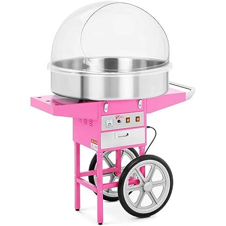Royal Catering Machine à Barbe à Papa Professionnelle RCZC-1200XL (diamètre de la cuve 72 cm, 1.200W, rendement horaire 1 unité/60s, 96x72x128cm, avec couvercle de protection)