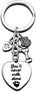 Pet Memorial Keychain Pet Lover Heart Key chain Dog Cat Paw Dog Tag Pet Sympathy Gift for Pet Lover Cat Dog Loss