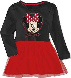 98-128 Disney Minnie Mouse Mädchen Rüschenkleid mit Kapuze in rot Gr