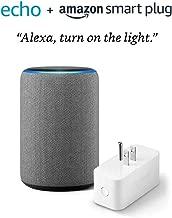 All-new Echo (3rd Gen) bundle with Amazon Smart Plug - Heather Gray