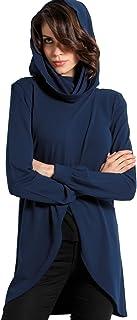 SENSI' Maglia Donna Cardigan Manica Lunga Viscosa Lana Traspirante Senza Cuciture Seamless Made in Italy