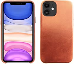 """Essential Co. iPhone 11 Leather Case 6.1""""   Genuine Leather   Classy Vintage Design   Ultra Thin & Sleek   Protective Anti-Slip Grip   Compatible with Apple iPhone 11 6.1"""" 2019 (Caramel)"""