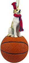 Conversation Concepts Whippet Tan & White Basketball Ornament