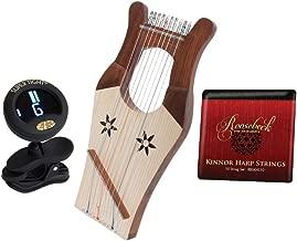 Mini Kinnor King Davids Harp Light Renaissance W/Gig Bag & Tuning Tool + Kinnor Harp Replacement String Set + Snark Clip-On Chromatic Tuner