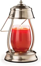 Candle Warmers Etc Hurricane Candle Warmer Lantern For Top-Down Candle Melting, Brushed Nickel