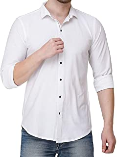 Keya Fab Men's Blended Unstitched Shirt Plain Regular Fit 14kg Rayon Blend Full Sleeves Formal Office Shirt for Men (Shirt...