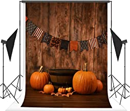 5x7 ft Microfiber Seamless Halloween Decorations Decor Backdrop for Photography Wood Wall Pumpkin Party Banner Photo Background Photo Studio Booth Props