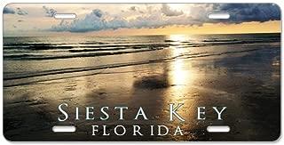CafePress Siesta Key Aluminum License Plate, Front License Plate, Vanity Tag