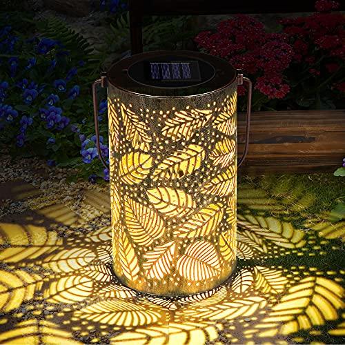Solar Laterne Außen, Solar Garten Hängende Laterne, Solar Laterne Lichter für hängende Outdoor, Zylinderförmige Nachtlicht Wasserdicht IP44 mit Lichtempfindlichkeit, Solar Laterne für Aussen, Garten