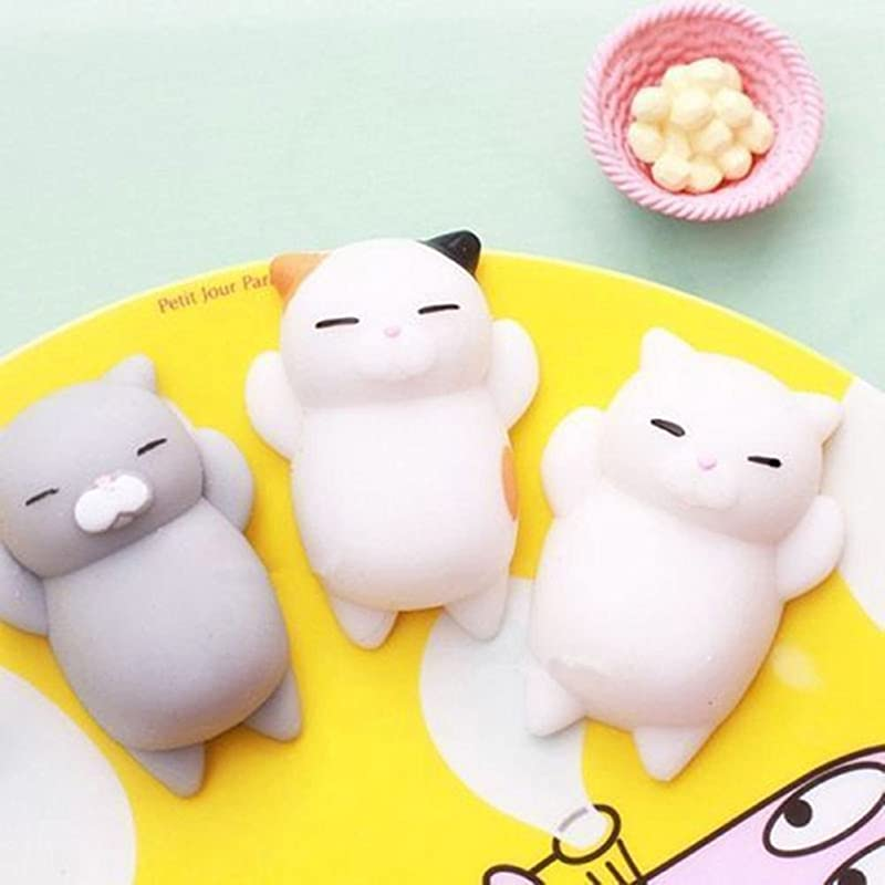 CHoppyWAVE Squeeze Toys Stress Reliever Funny Soft Cat Squishy Squeeze Kid Toy Gift Stress Reliever Phone Decor Gift