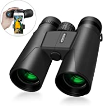 Compact Binoculars 10x42 with Low Light Night Vision Waterproof High Power Binoculars for Bird Watching Hunting Opera Concert Theater and Sport Games for Adults and Kids by IKALULA