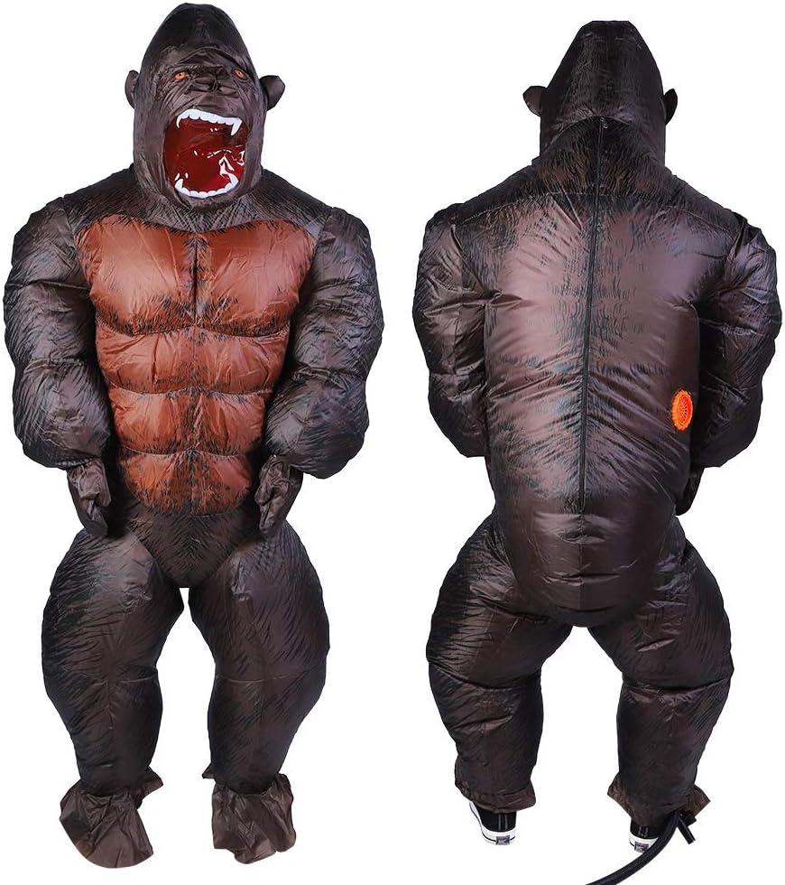Comfortabel om opblaasbaar kostuum te dragen, lichtgewicht olyester-stof Unieke vorm waterdicht Halloween-decor, voor Halloween-verjaardagsfeestje Volwassenen Kinderen(X116) X117