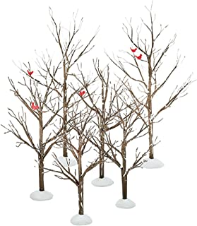 Department 56 Village Bare Branch Trees Accessory Figurine (Set of 6)