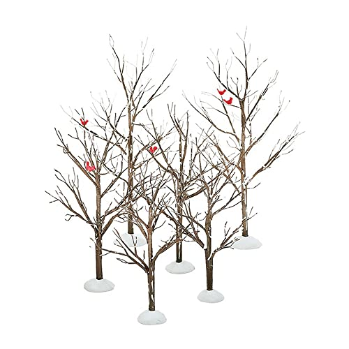 wooden christmas trees amazon Burlap Projects for Christmas Ornaments department 56 village bare branch trees accessory figurine set of 6