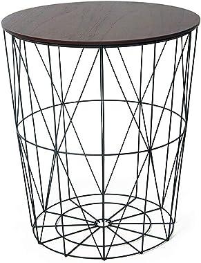 Coffee Tables Creative Multifunctional Coffee Table Bedroom Small Round Table Hamper Storage Basket Storage Basket Practical