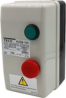 Baomain Magnetic Starter HUEB-16K AC 220V Coil 5.5-8.5A 3-Pole Push Button Control Motor