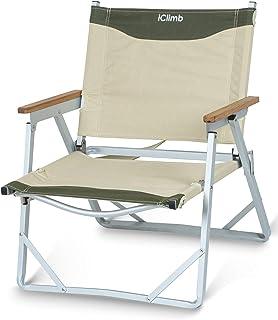 iClimb デッキチェア 一人掛け ローチェア リラックフォールディングチェア ソファー 耐荷重120kg コンパクト 折りたたみチェア チェア ベンチ ビーチ 庭園 アウトドア キャンプ 用