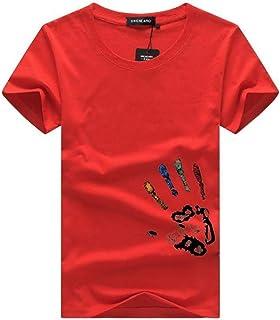 [ SmaidsxSmile(スマイズ スマイル) ] Tシャツ 半袖 トップス 薄手 手形 プリント シンプル 丸首 カジュアル メンズ
