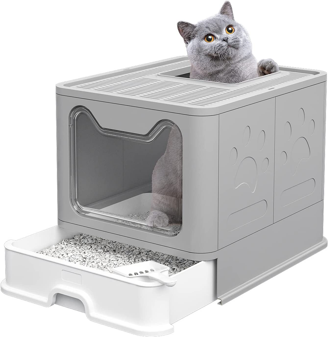 Aeitc Large Cat Max 52% OFF Litter Box with Max 83% OFF Ent Potty Enclosed Top Lid