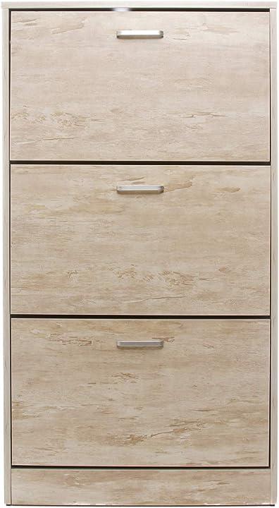 Scarpiera in legno, da 60x23,5x110 cm legno chiaro KLD000002NOC