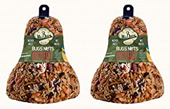 2-Pack of Mr. Bird Bugs, Nuts, Fruit Wild Bird Seed Bell 12.5 oz.
