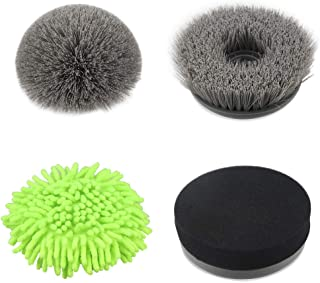 ADPOW 4pcs Power Spin Scrubber Replacement Brush Heads, Electric Cordless Tub and Tile Scrubber Head Brushes for Bathroom, Floor, Wall and Kitchen
